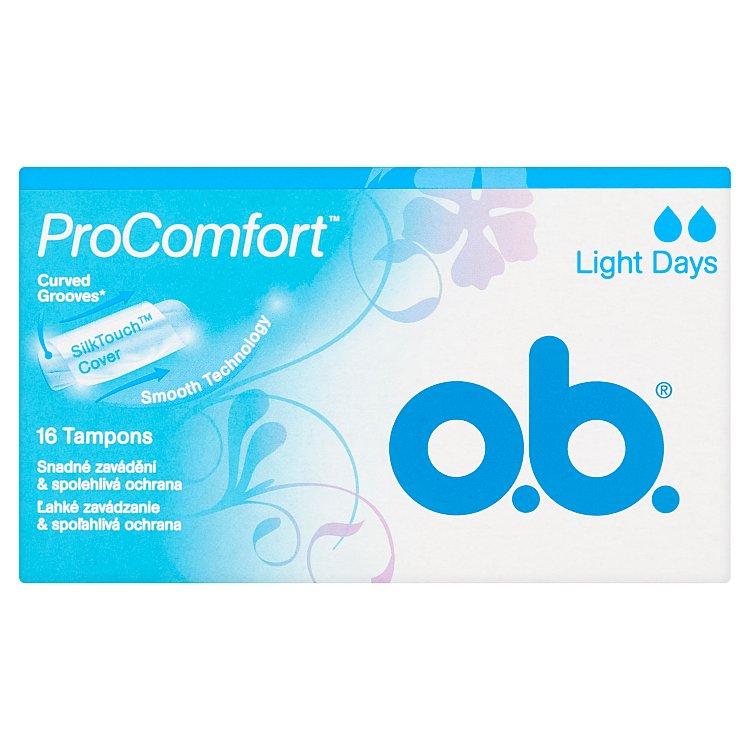 O.B. ProComfort light days tampóny 16 ks