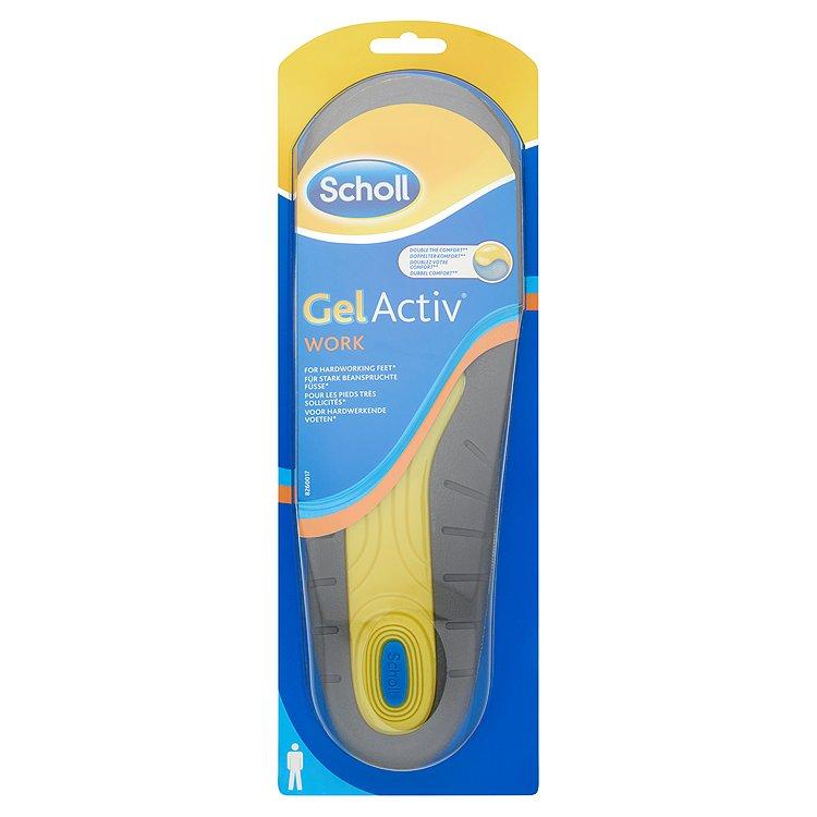 Scholl GelActiv Work gelové vložky do bot pro muže 1 pár