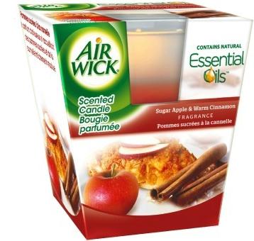 Air Wick svíčka Essential Oil Infusion Červené jablko a svařené víno 105 g