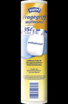 Swirl antibakteriální sáčky na odpad s uchy 35 l / 15 ks