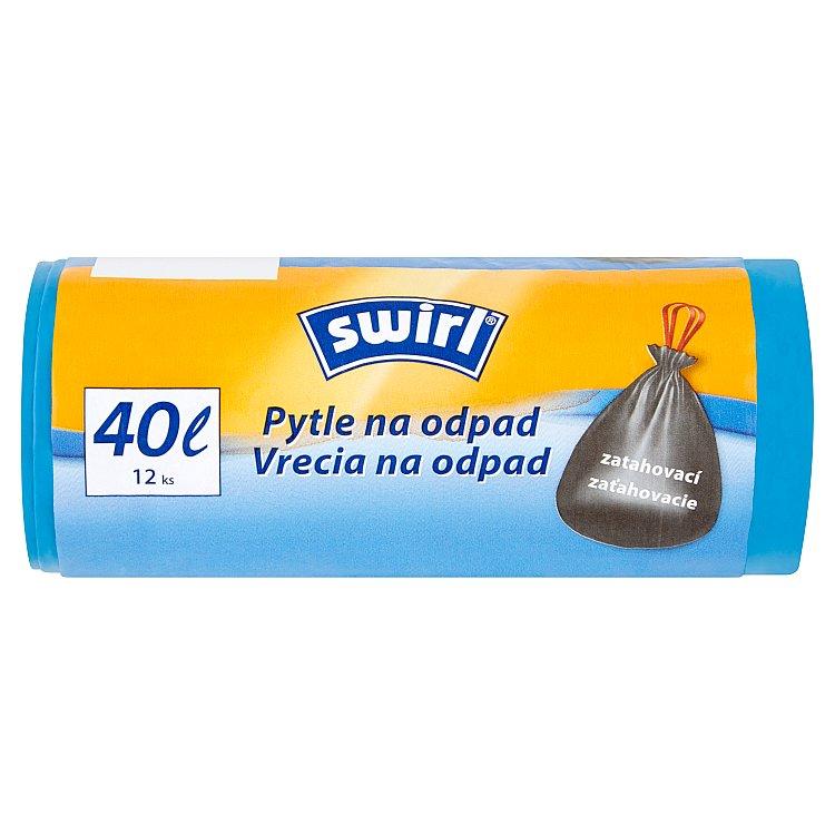 Swirl pytle na odpad zatahovací 40 L/12 ks
