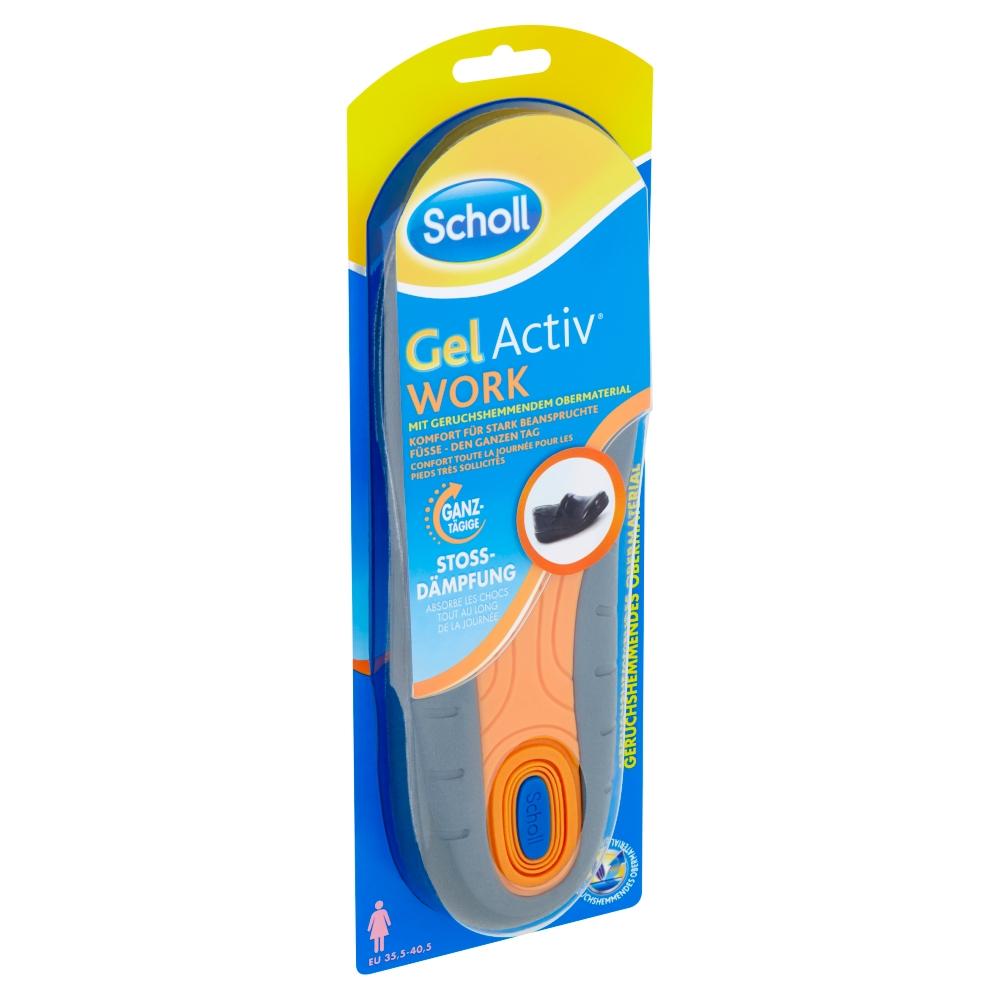 Scholl GelActiv Work vložky do bot do práce, velikost 35,5-40,5 1 pár