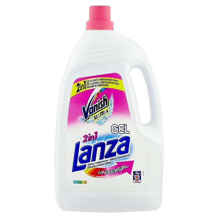 Fotografie Lanza Universal prací gel s odstraňovačem skvrn, 45 praní 2,97 l