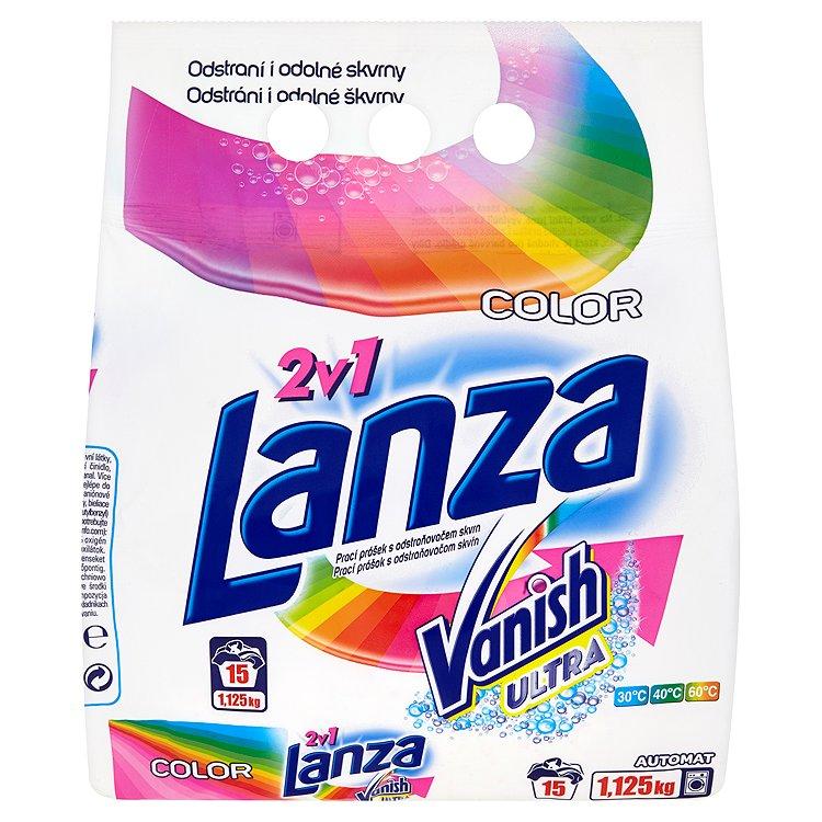 Lanza Vanish Ultra 2v1 Color prací prášek, 15 praní 1,1 kg