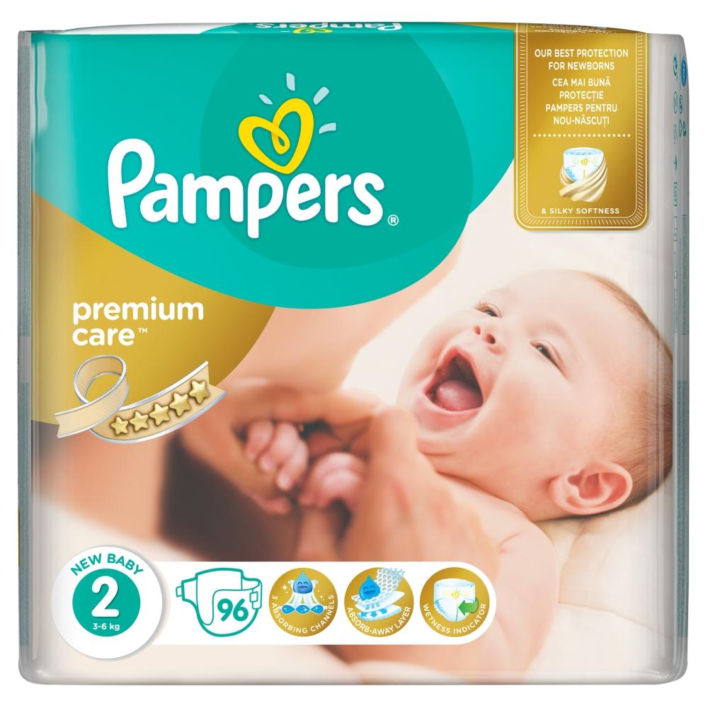 Pampers Premium Care pleny 2 Mini, 3-6 kg 96 ks