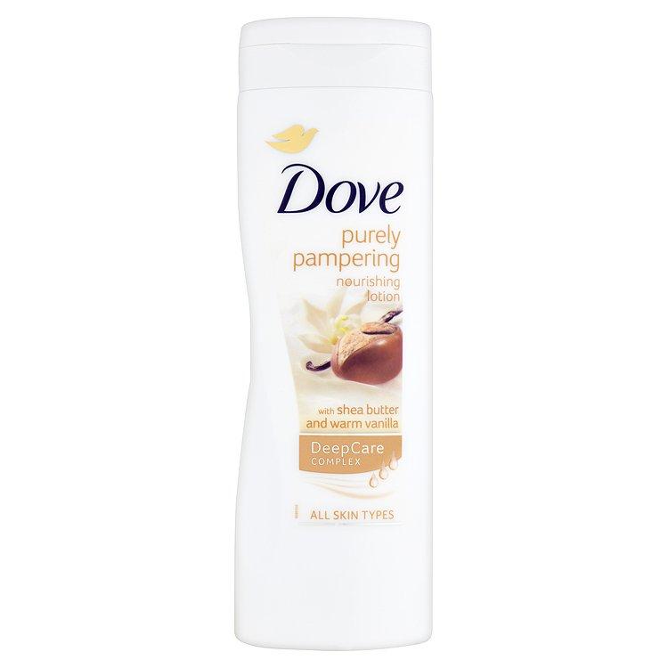 Fotografie Dove Bambucké máslo tělové mléko pro suchou pokožku 400ml