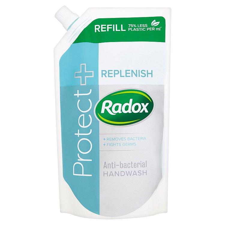 Fotografie Radox Feel Hygienic & Replenished tekuté mýdlo náhradní náplň 500 ml
