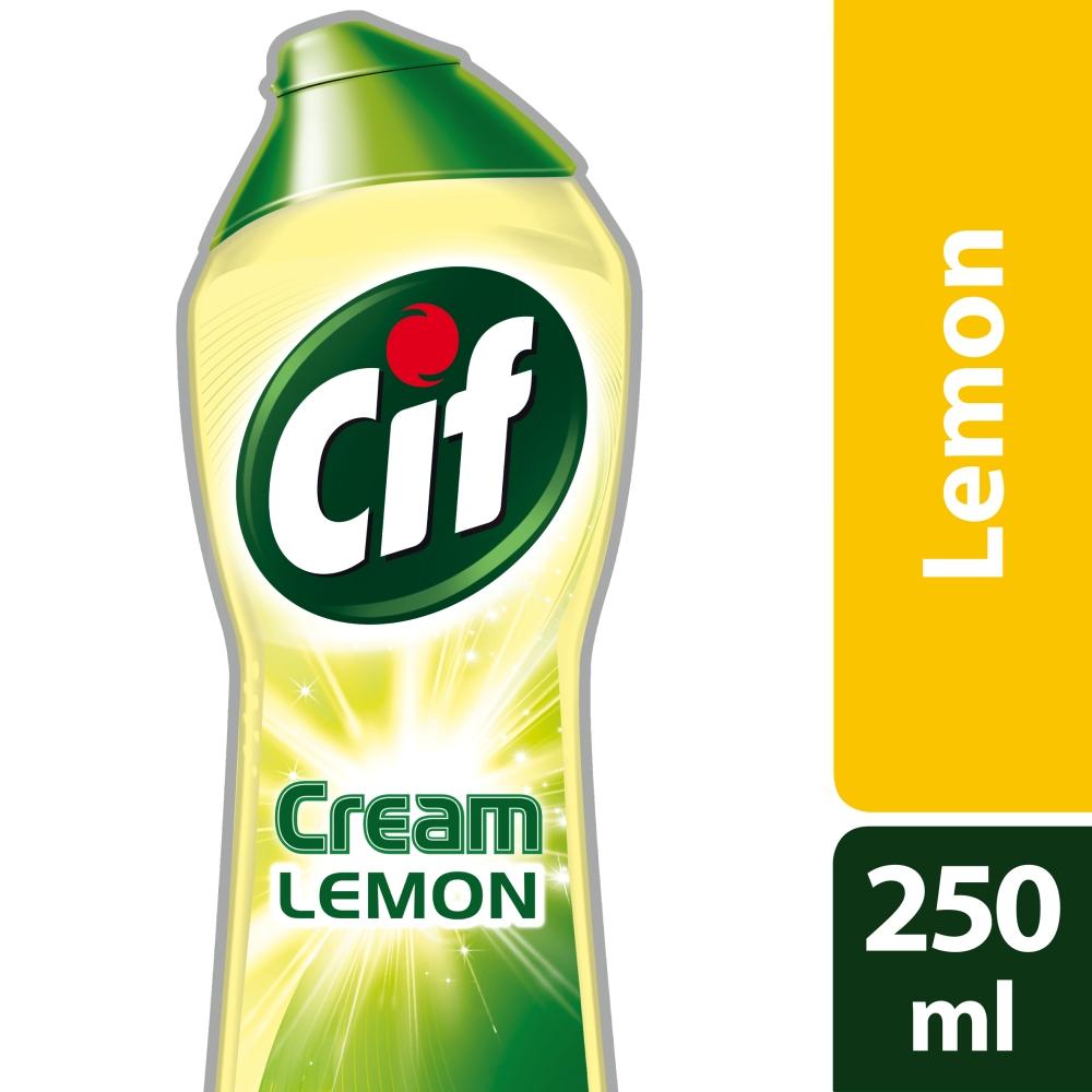 Fotografie Cif Cream Lemon krémový abrazivní čisticí přípravek 250 ml