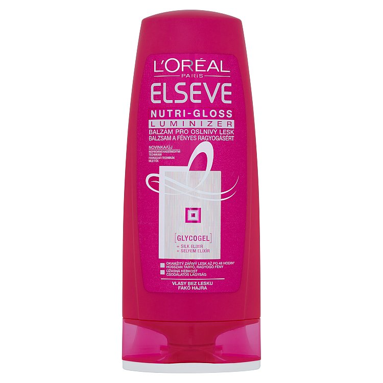 Fotografie L'Oréal Paris Elseve Nutri-Gloss Luminizer balzám pro oslnivý lesk 200 ml