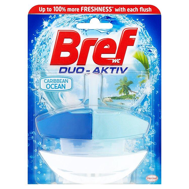 Fotografie Bref Duo Aktiv Ocean tekutý WC blok komplet 50 ml