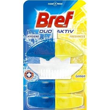 Bref Duo-Aktiv WC blok, Lemon + 2x náhradní blok 3 x 50 ml