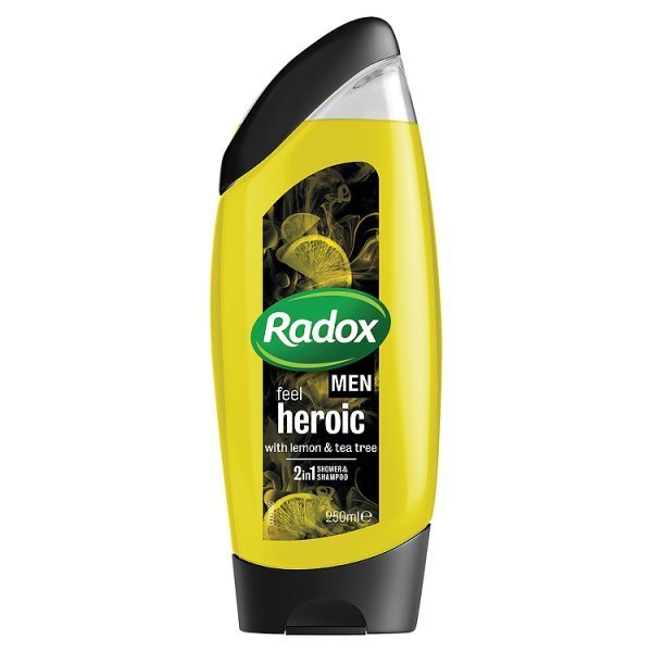 Radox Men Feel heroic lemon & tea tree 2in1 sprchový gel 250 ml