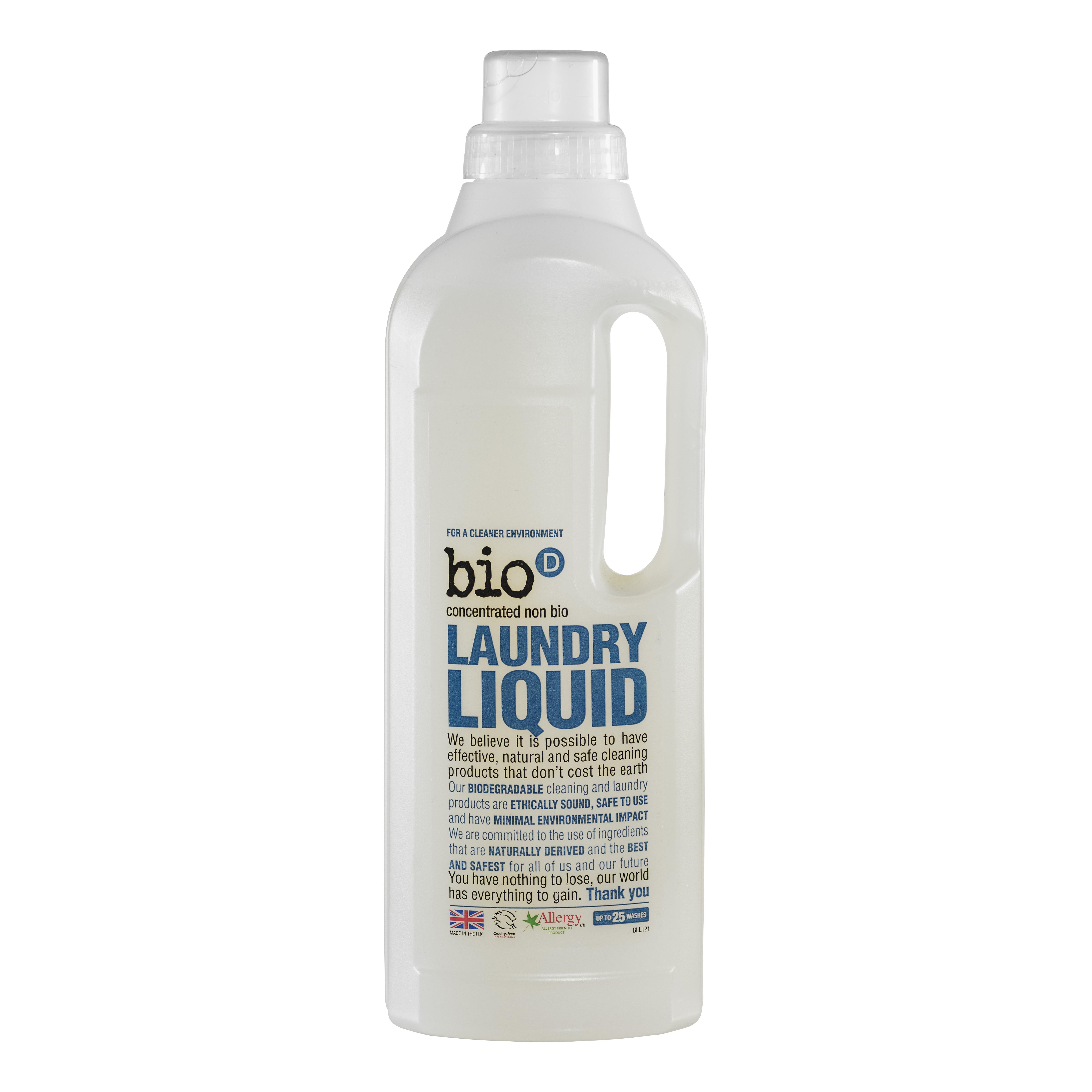 Bio-D tekutý prací gel, 25 praní 1 l