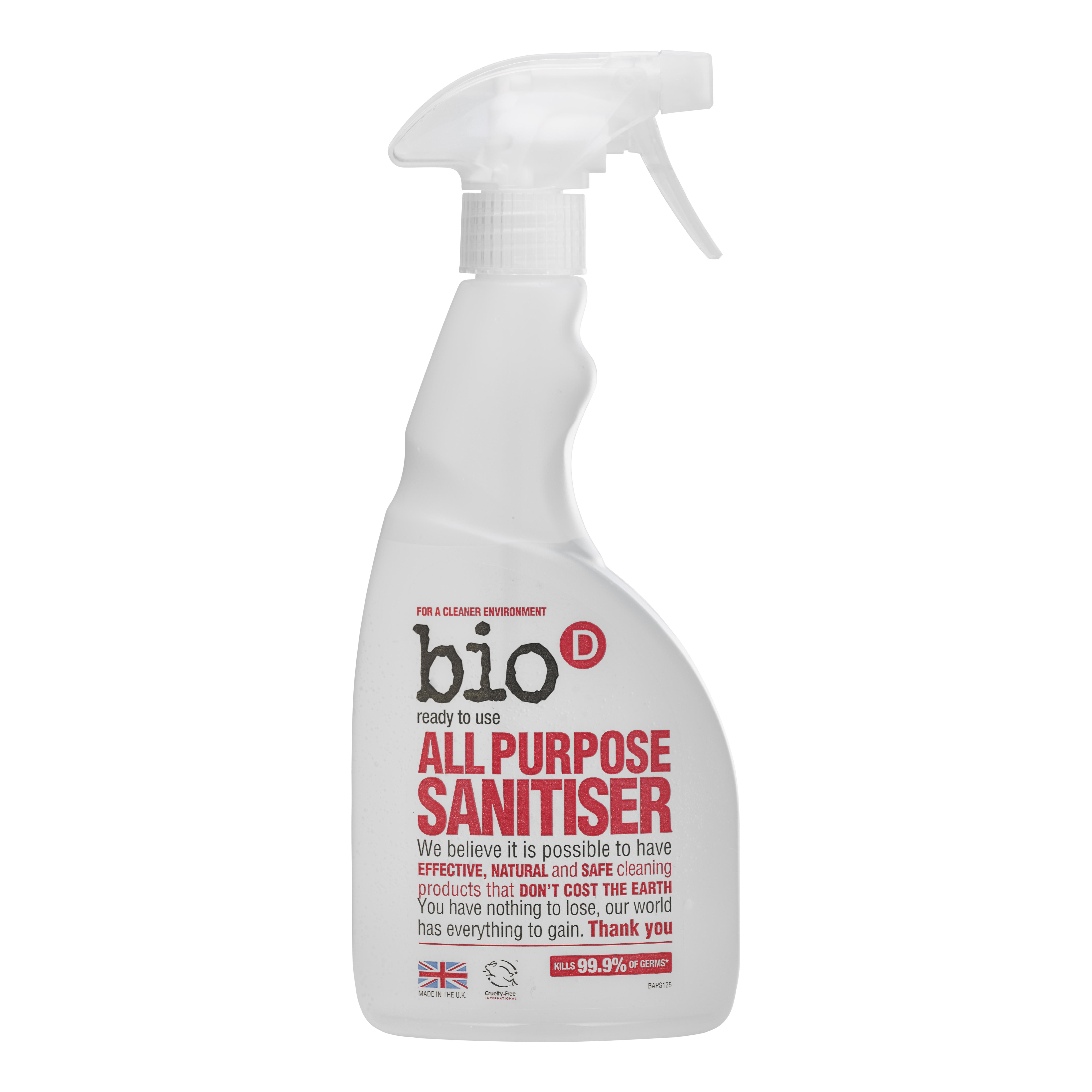 Bio-D univerzální čistič s dezinfekcí a rozprašovačem 500 ml