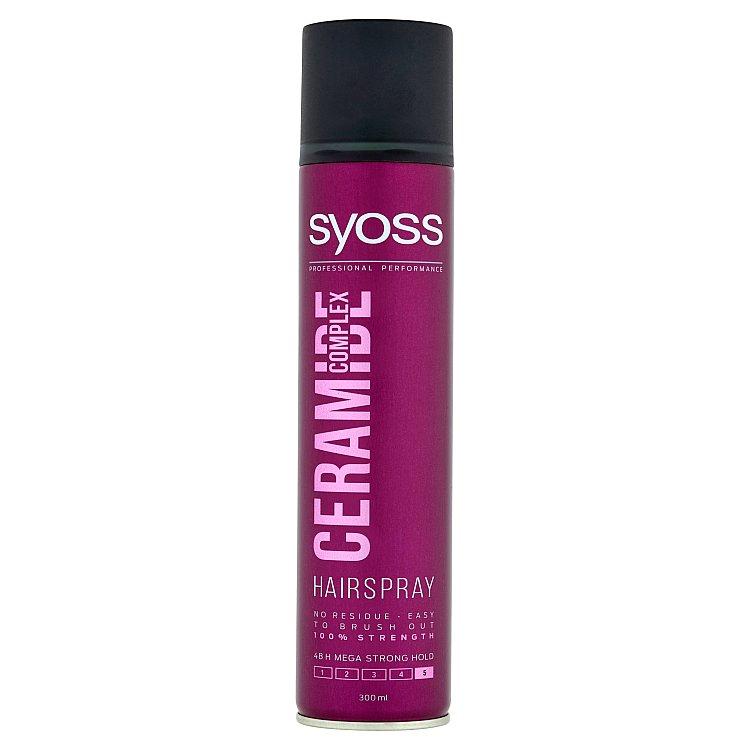 Syoss Ceramide Complex lak na vlasy mega silná fixace 300 ml