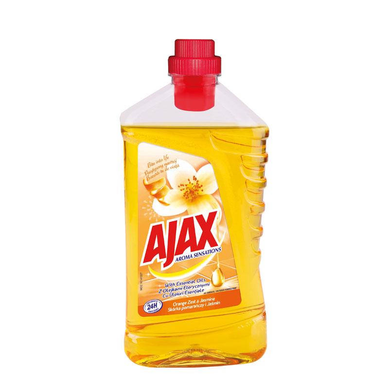 Fotografie Ajax Aroma Sensations Orange Zest & Jasmine univerzální čistící prostředek 1 l