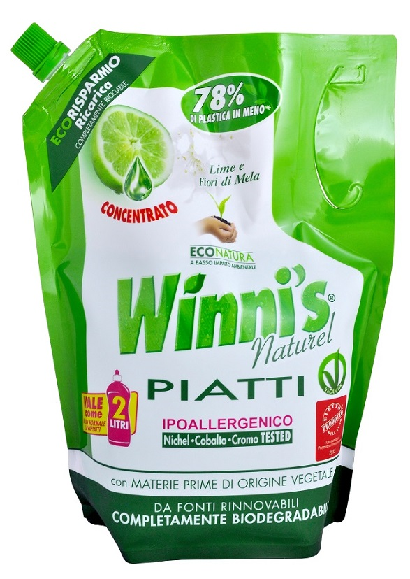 Winni's Piatti Lime Eco Ricarica na nádobí 1 l
