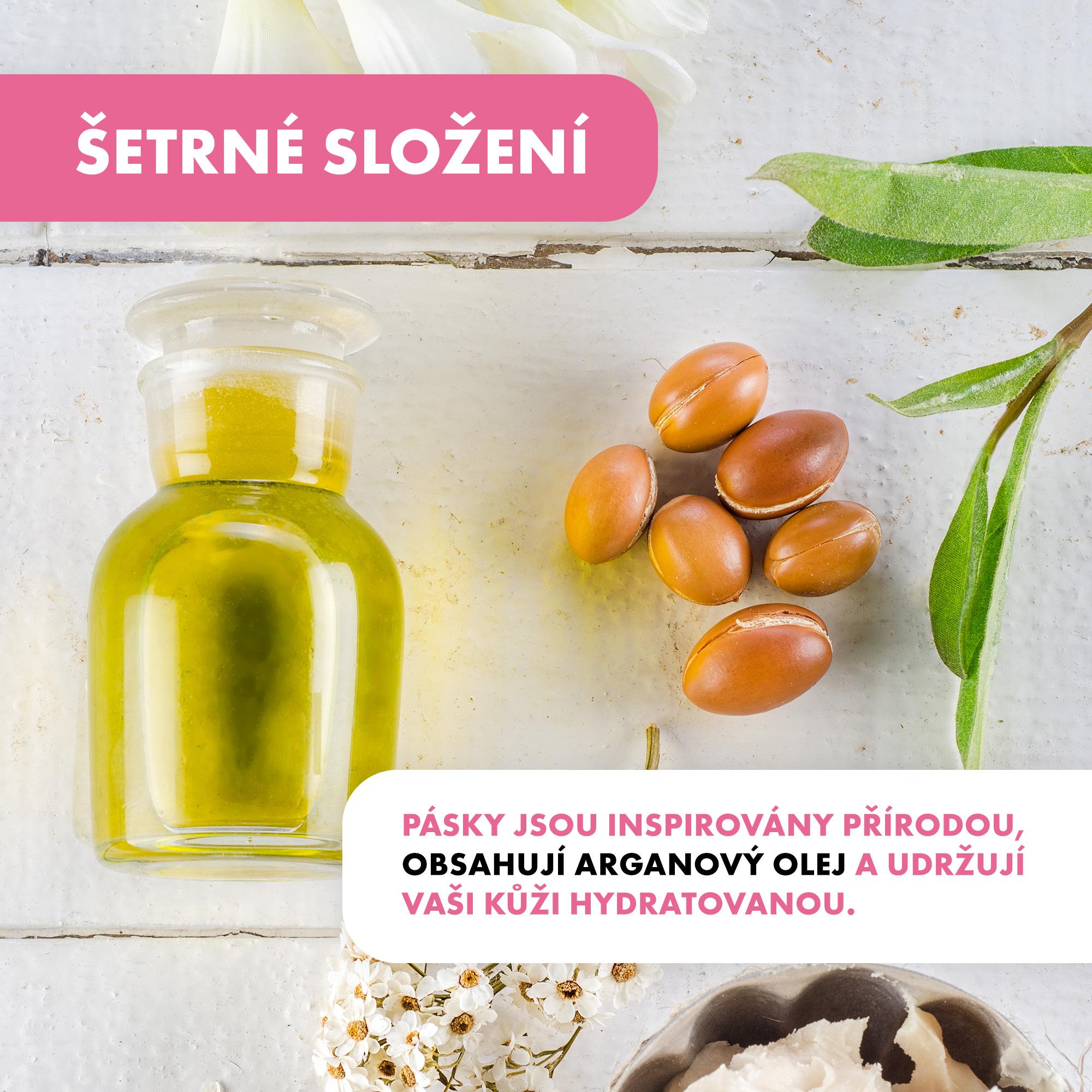 Veet Natural Inspirations voskové pásky s Arganovým olejem 12 ks