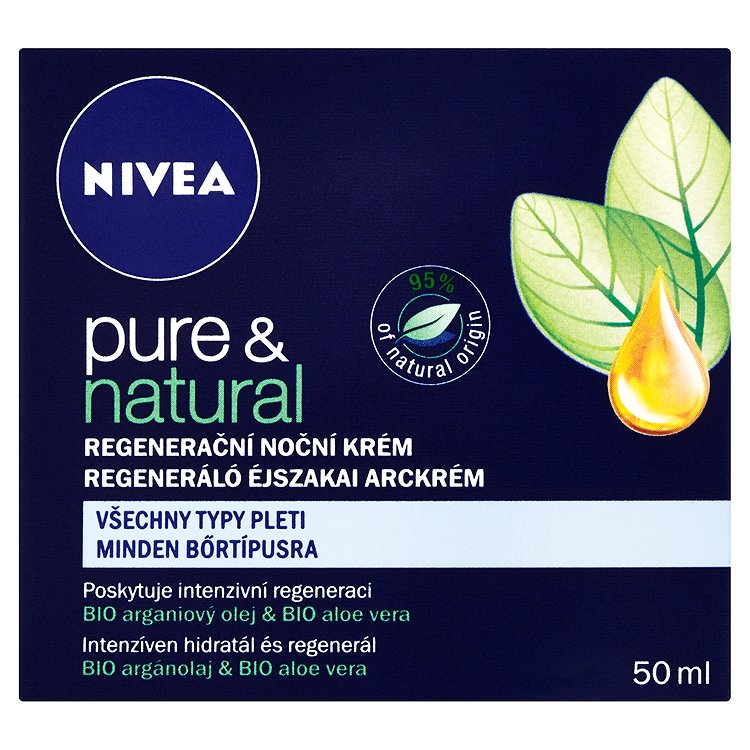 Nivea Pure & Natural regenerační noční krém 50 ml