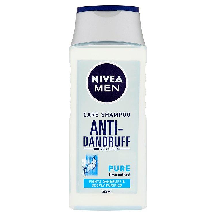 Fotografie Nivea Men Pure šampon proti lupům pro muže 250 ml