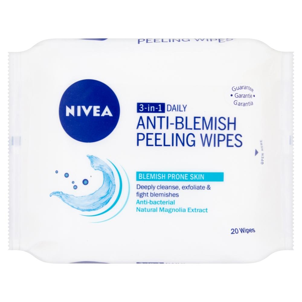 Nivea 3v1 daily hloubkově čistící peelingové ubrousky 20 ks