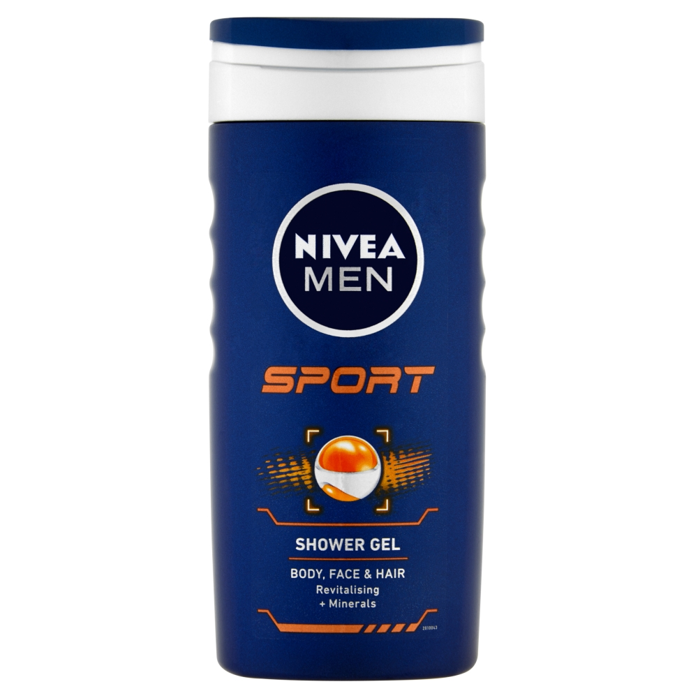 Fotografie Nivea Men Sport sprchový gel na tvář, tělo a vlasy 250 ml