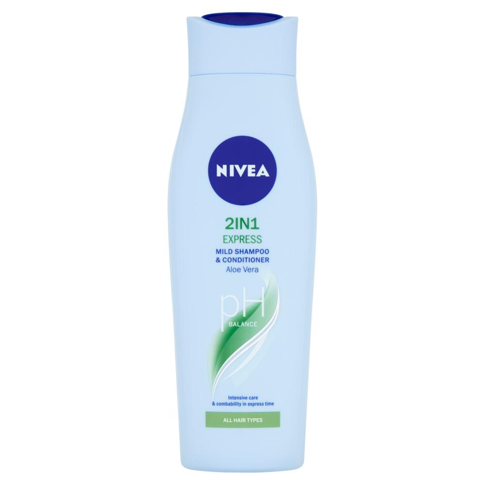 Fotografie Nivea 2in1 Express Pečující šampon a kondicionér 250ml Nivea