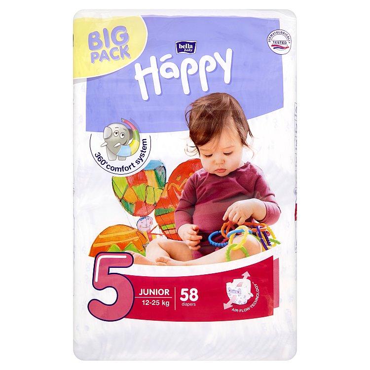 Bella Baby Happy 5 Junior jednorázové plenky 12-25 kg 58 ks