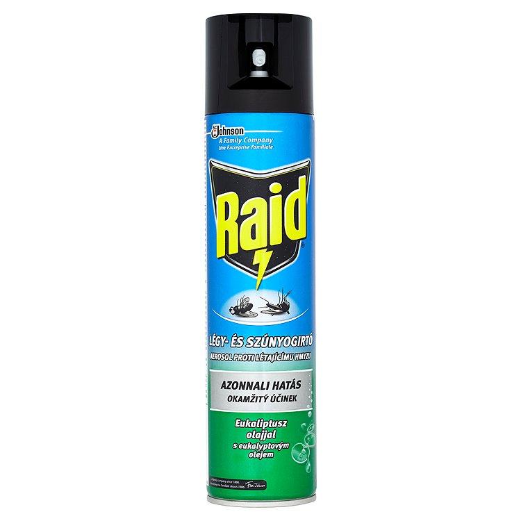 Fotografie Raid aerosol proti létajícímu hmyzu s eukalyptovým olejem sprej 400 ml