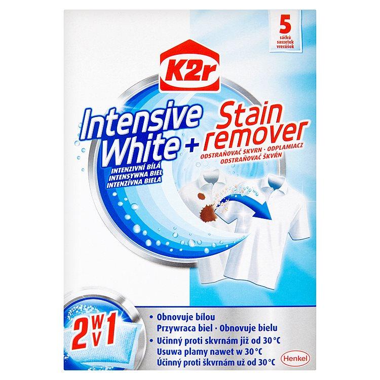 Fotografie K2r Intensive White + Stain remover intenzivní bílá + odstraňovač skvrn 5 kusů