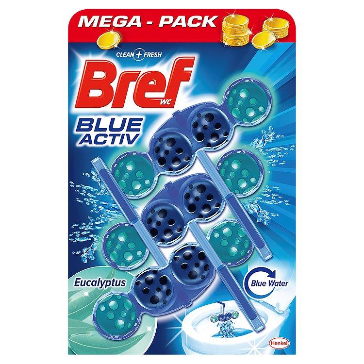 Bref Blue Aktiv WC blok Eucalyptus 3 x 50 g