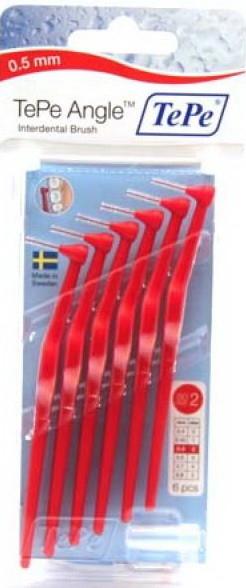 TEPE mezizubní kartáčky ANGLE 0,5 mm červený 6 ks