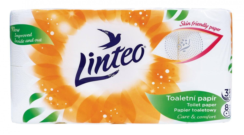 Linteo toaletní papír - 3vrstvý 8 ks