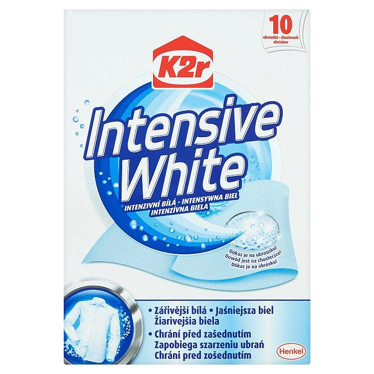 Fotografie K2r Intensive White Intenzivní bílá 10 ubrousků