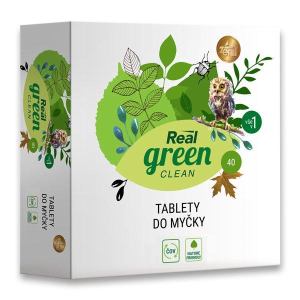 Real green clean tablety do myčky nádobí 40 ks