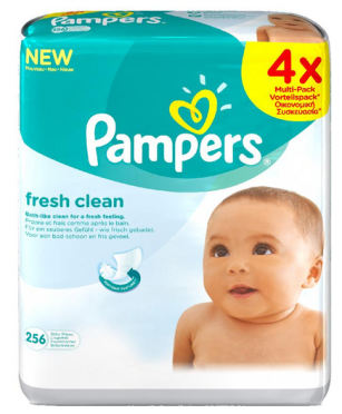 Pampers Ubrousky Fresh Clean 4 x 64 ks
