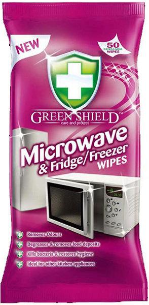 Green Shield vlhčené ubrousky na mikrovlnné trouby 50 ks/bal.