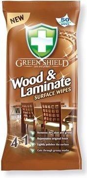 Green Shield vlhčené ubrousky na dřevo a lamináty 50 ks/bal.
