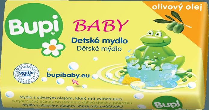 Fotografie Bupi Dětské mýdlo s olivovým olejem 100 g