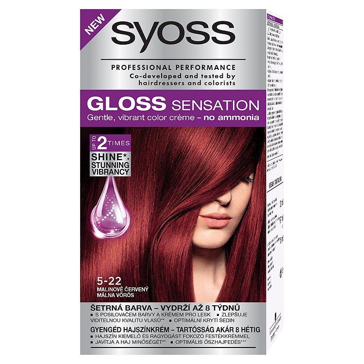 Fotografie Syoss Gloss Sensation barva na vlasy 5-22 Malinově červený