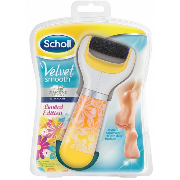 Scholl Velvet Smooth elektrický pilník na chodidla letní edice Extra hrubý