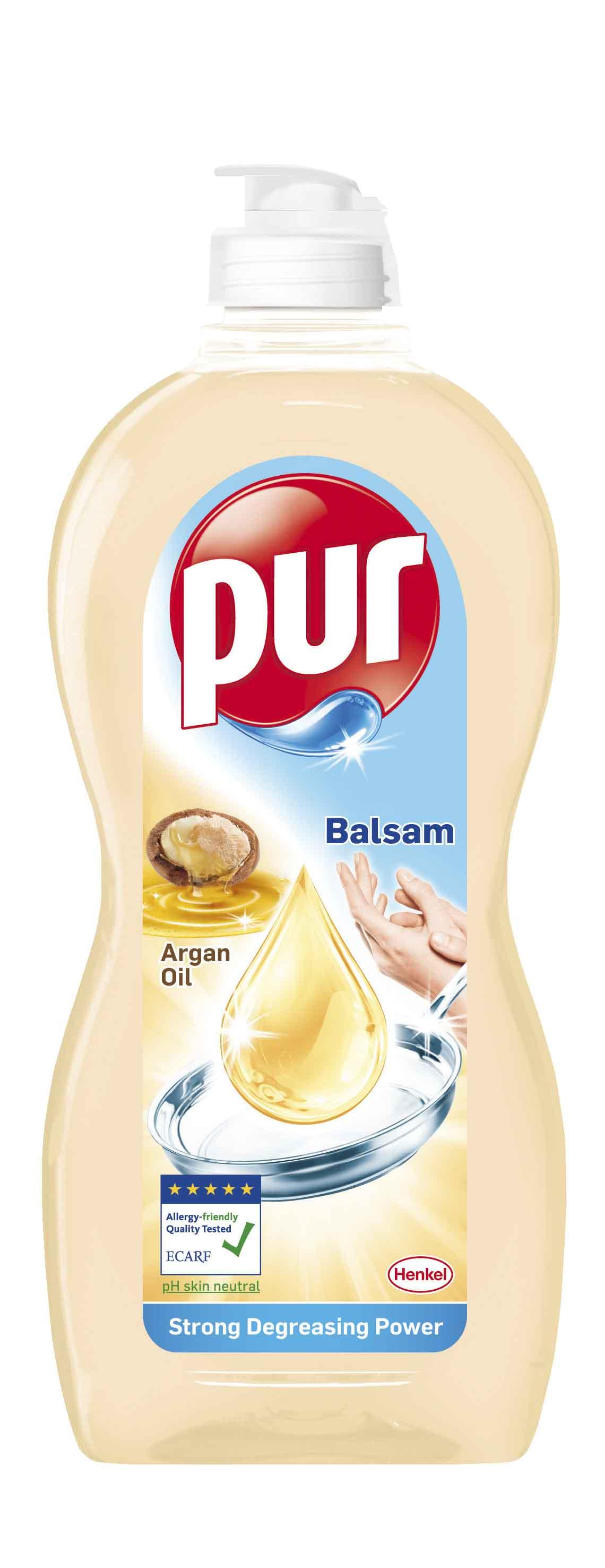 Fotografie Pur Balsam Argan Oil prostředek na mytí nádobí 450 ml
