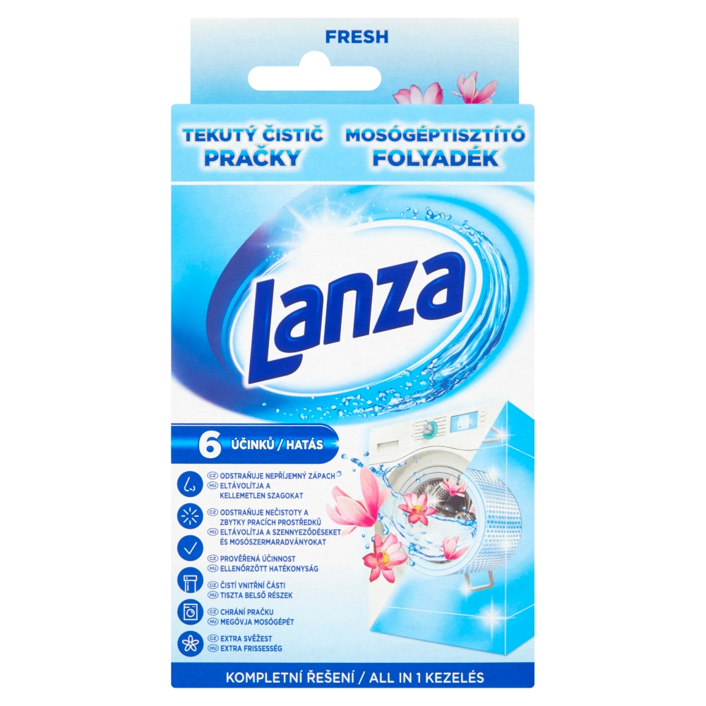 Lanza tekutý čistič pračky Fresh 250 ml