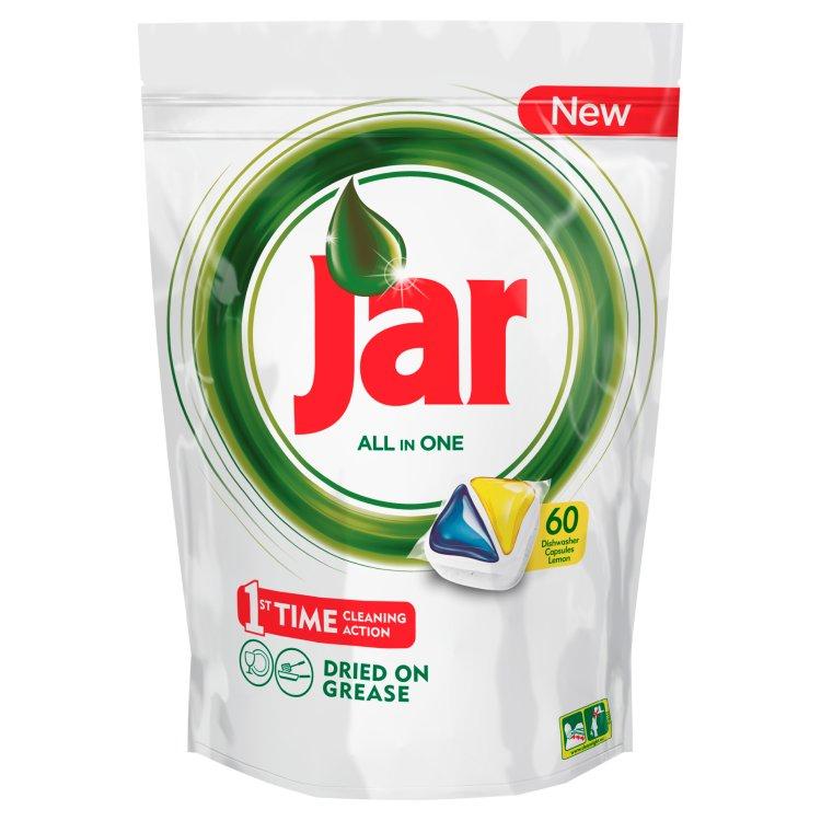 Jar Vše-v-1 Kapsle Do Automatické Myčky Nádobí Lemon 60 Ks