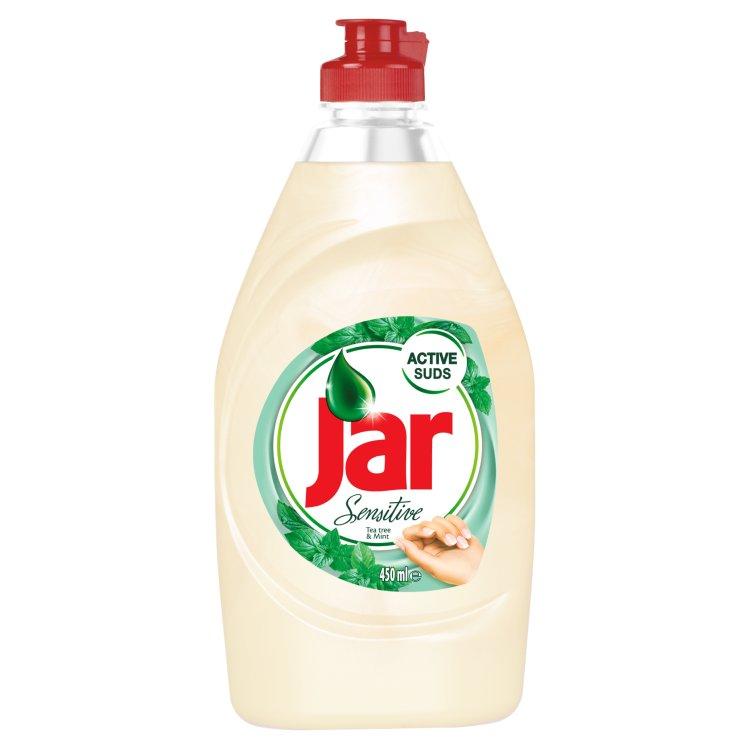 Jar Sensitive Tea Tree & Mint prostředek na nádobí 450 ml