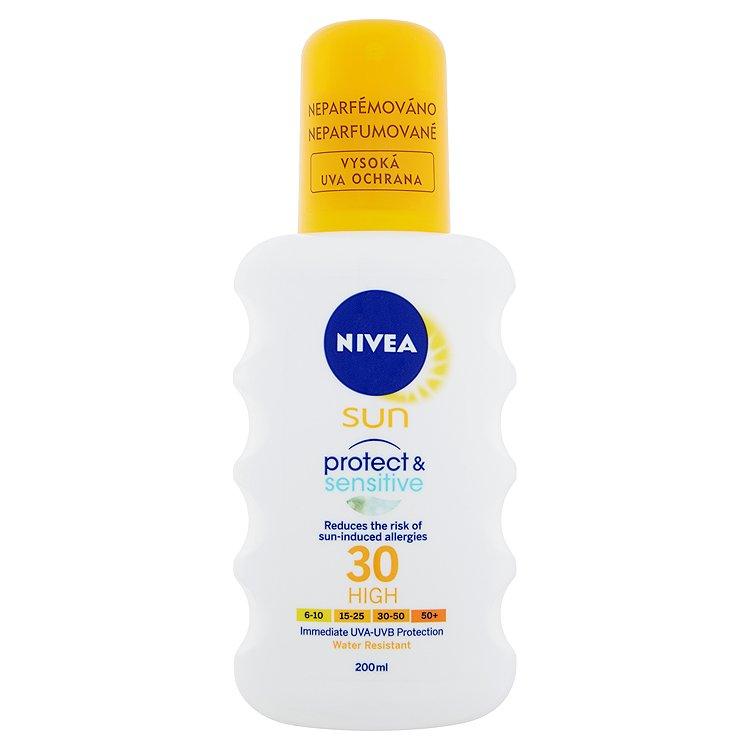 Nivea Sun Protect & Sensitive Sprej na opalování OF 30 200ml