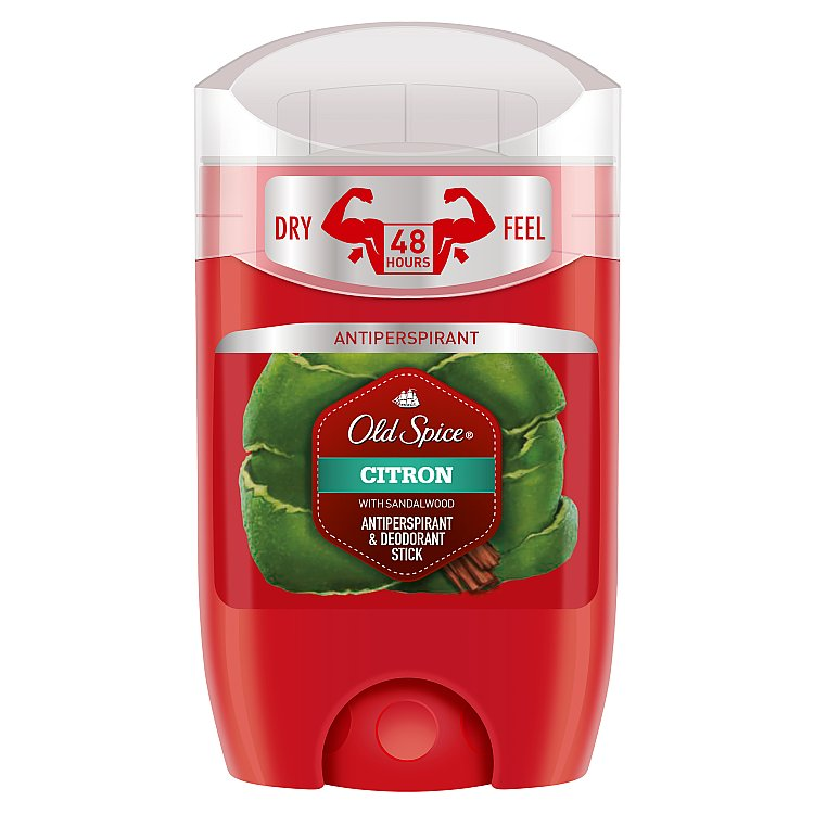 Fotografie Old Spice Citron with Sandalwood antiperspirant deodorant stick pro muže 50 ml