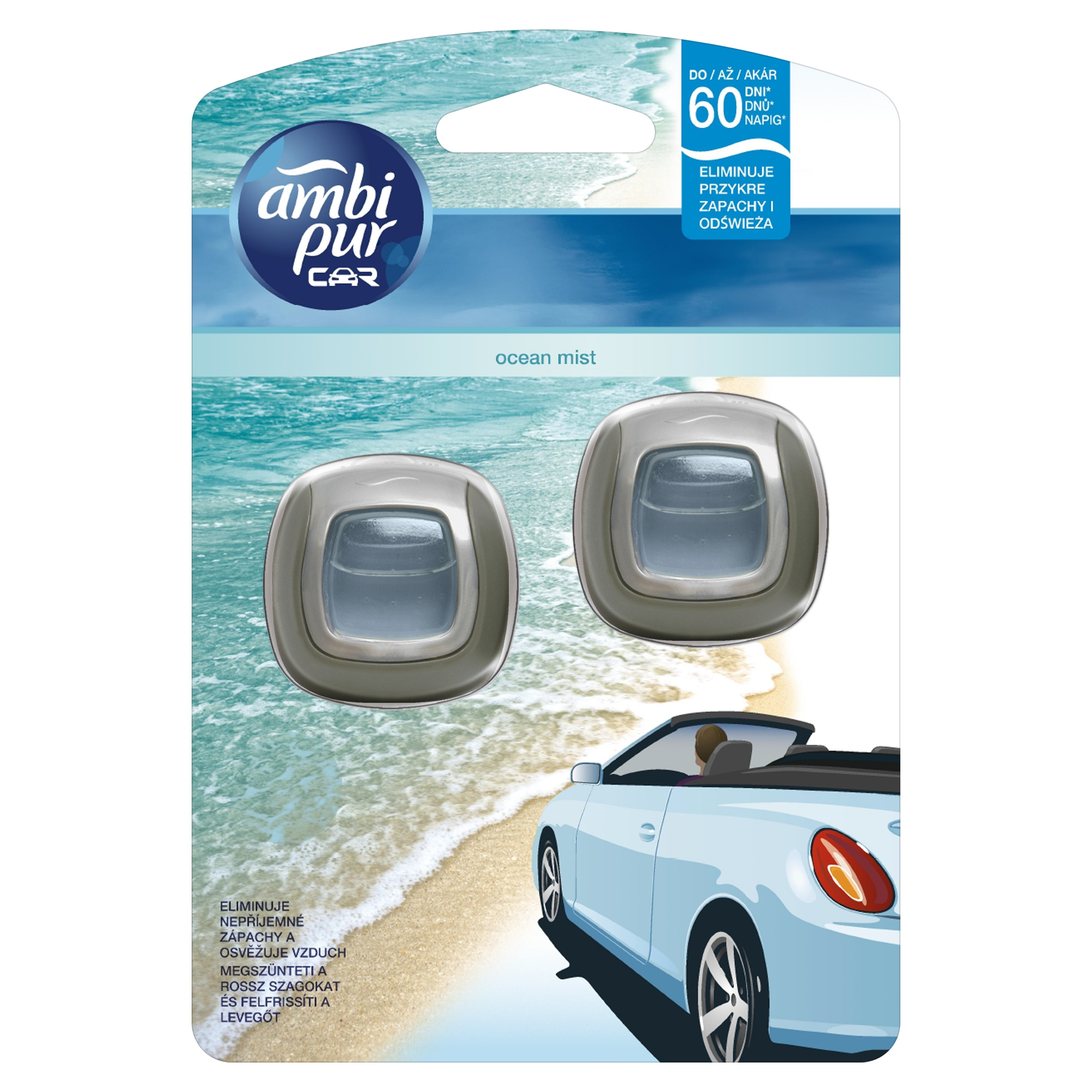 AmbiPur Car Jaguar Ocean Mist 2 x 2 ml