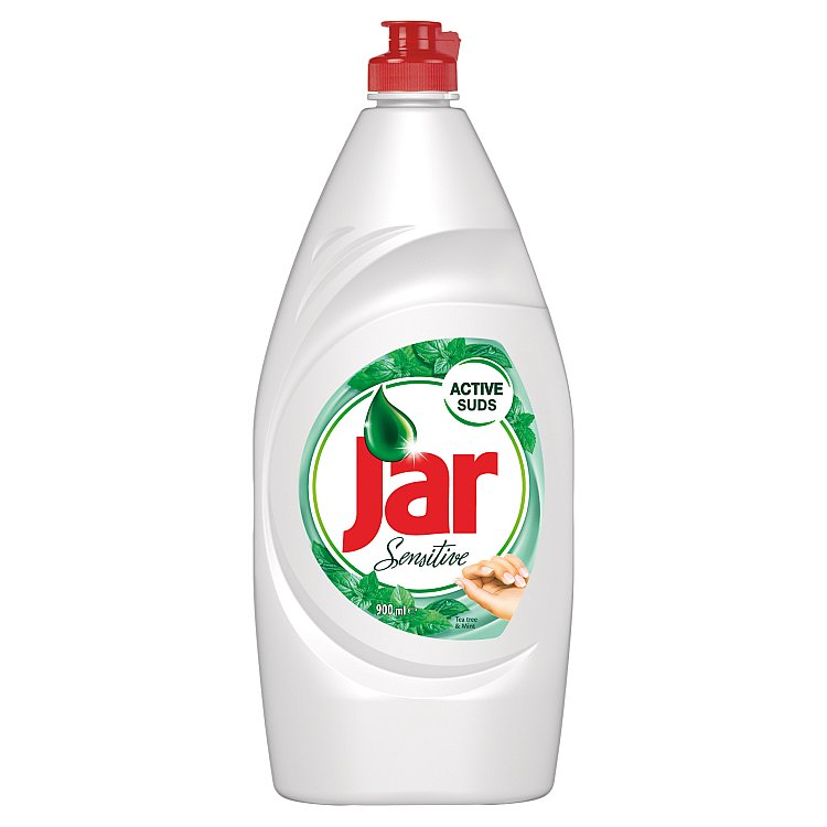 Jar Sensitive Tea Tree & Mint prostředek na nádobí 900 ml