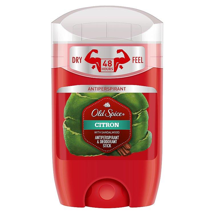 Fotografie Old Spice Citron with Sandalwood antiperspirant deodorant stick pro muže 50 ml